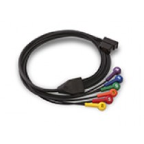 V-LEAD PATIENT CABLE FOR 12-LEAD ECG (2.5 FT)