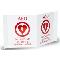 AED PLUS 3-D WALL SIGN